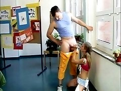 German Teens learn fuck in school Part 1