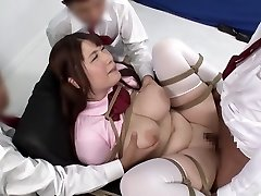 Insane Japanese girl in Amazing BDSM, Creampie JAV movie