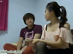Korean Goddess Enjoys Sub Licking Her Feet