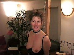 Slave has her hooters pierced 4mm (6ga)