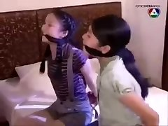 2 Cleave Gagged Asian Chicks