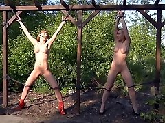 CMNF - Slave girls flagellated and humiliated BDSM