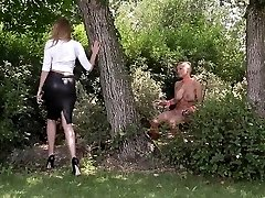 Domina Danielle Maye romps her Submissive before Ass Fuc