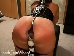 Jizm Whore is flagellated, fisted, gaped and ass fucked