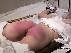Diminutive Victorian girl getting a stiff punishment
