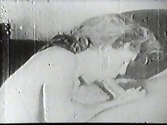 Hot slut throating vintage cock