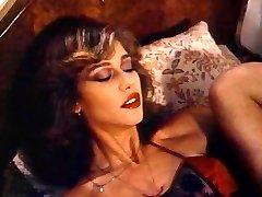 Retro Old School - Lady in Satin Lingerie Pleasing Herself