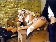 Dirty policemen squirted having an private affair with sexy nuns