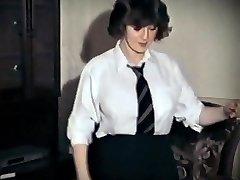 WHOLE LOTTA ROSIE - vintage big tits college girl de-robe dance