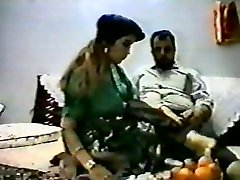 Vintage arab first-timer couple make rock hard homemad
