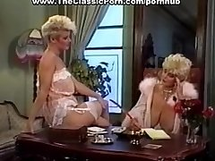 Penis worshipped by retro huge-chested girl