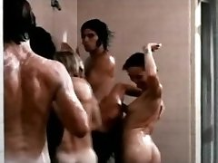 David Hasselhoff nude in douche orgy