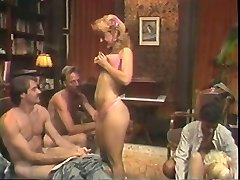 Hot retro group fuck-fest activity with Nina Hartley
