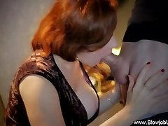 A Old School Sensuous CFNM Blowjob