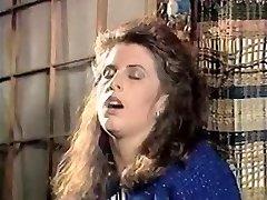 Girl in doorway rubs cooch 80's