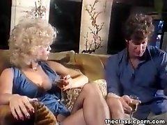 Light-haired in lingerie gets cum splash