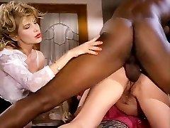 Barbarella, Moana Pozzi, Sean Michaels in well-hung black retro pornography starlet doing latin damsels
