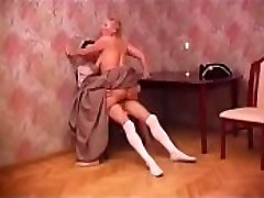 retro dress for big-titted russian mature with young guy