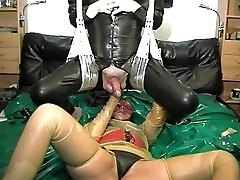 vintage rubber latex couple ass fisting popshot