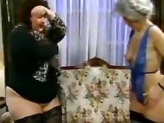 Two bbw skinny grannies boned