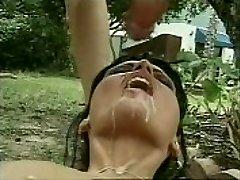 Huge cum shot to mouth