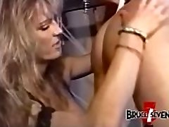 Busty dyke domme punishes sub after playing with her