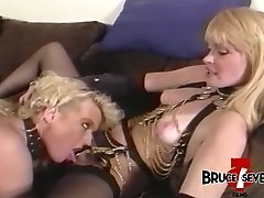 Dyke femdom teaches some manners to beautiful victim babe