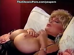 Blonde tramp with big breasts fucks guy