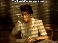 Short haired kinky brunette college professor deep throats strong cock for cum