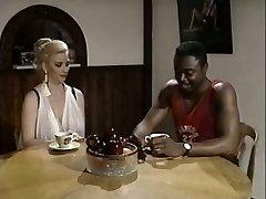 Black boy eats gash of white bosomy rapacious slut