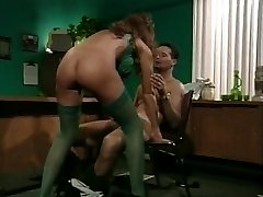 retro busty milf rectal in office