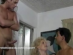 Busty classic pornstar double assfucking
