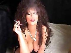 Classic Busty Cougar Smoking And Toying mature mature porn grandmother older jizz shots cumshot