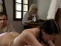 Retro clip with Czech women getting flagellated
