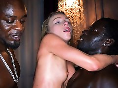 BLACKEDRAW Blonde fucked by four black men