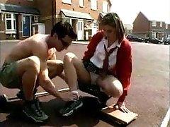 British Schoolgirl Enjoys Older Man