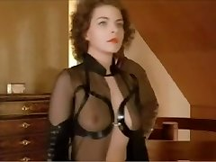 German female dominance babe dominates a man in a suit