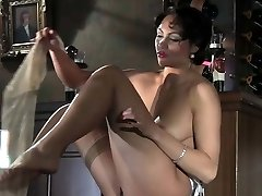 Classic lingerie tease