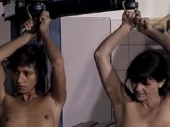 A vintage BDSM movie of a slave getting humiliated