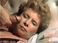 antique vhs of a mature milf facefucked and  jizzed