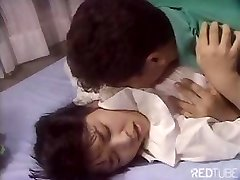 Cute Japanese girl is getting pulverized by tongue and rigid cock