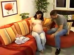 Pregnant retro f and facial cumshot