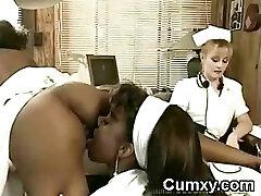 Sapphic Afro Nurse Interracial