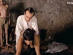 Amazing homemade Brunette, Retro lovemaking scene