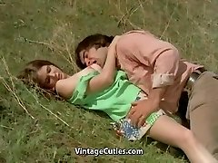 Stud Tries to Seduce teenager in Meadow (1970s Vintage)