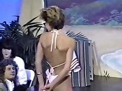Three retro without bra bikini contests