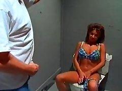 Phat breast bikini bimbo sextsar Leanna bathroom fuck