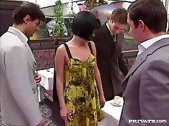 Rita Cardinale, Gang-bang and Bukkake in the Restaurant