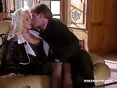 Silvia Saint Humps the Lawyer and Masturbates His Cum