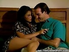 Hot asian babe in old-school porno film